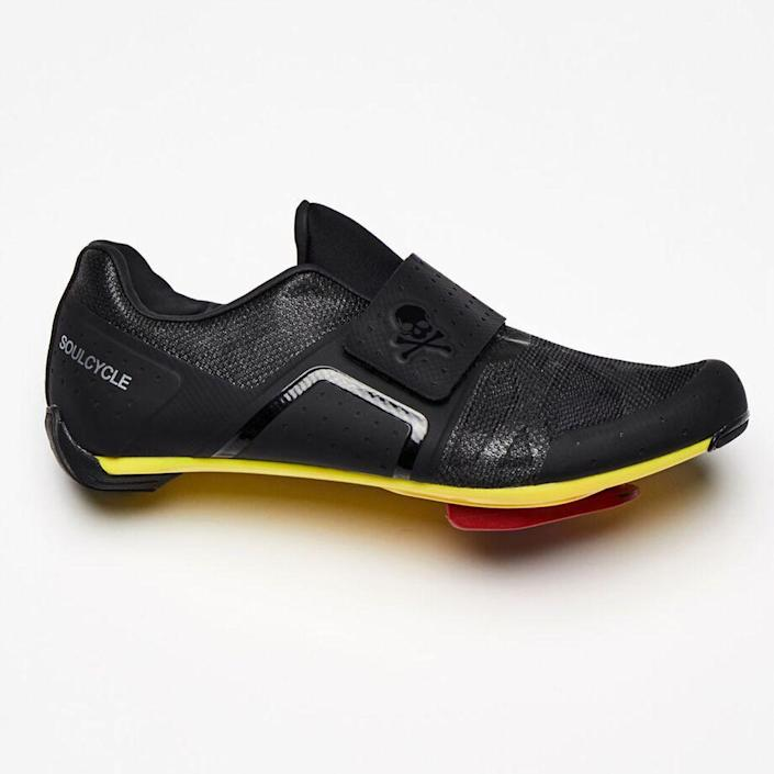 """<p><strong>Soul Cycle</strong></p><p>soul-cycle.com</p><p><strong>$200.00</strong></p><p><a href=""""https://shop.soul-cycle.com/us/en/accessories/footwear/cycling-shoes/black-legend-cycling-shoe-SB31170001.html"""" rel=""""nofollow noopener"""" target=""""_blank"""" data-ylk=""""slk:Shop Now"""" class=""""link rapid-noclick-resp"""">Shop Now</a></p><p>Are you the kind of person who drips buckets? This shoe is for you. It features a sleek lining and closed-cell foam padding to help shed sweat, plus antimicrobial upper mesh for max breathability. </p>"""