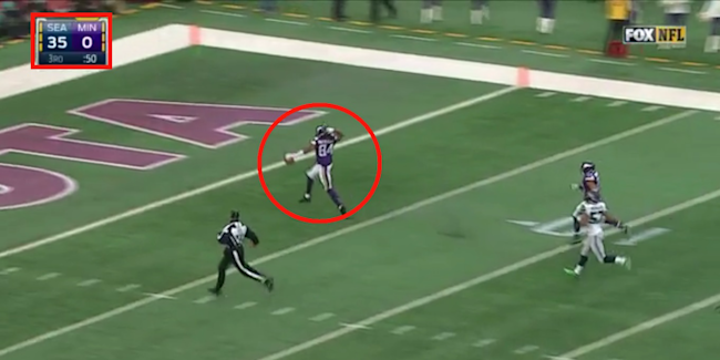 a441b6b55cc1 Vikings player has over-the-top touchdown celebration while his team ...