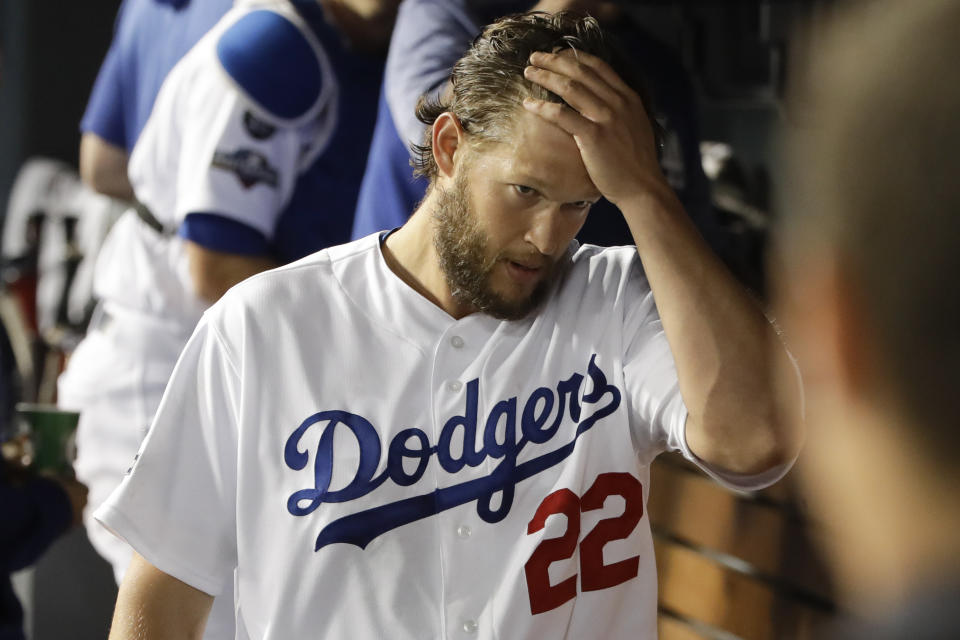 Was Dodgers ace Clayton Kershaw tipping his pitches during NLDS Game 2? (AP Photo/Marcio Jose Sanchez)