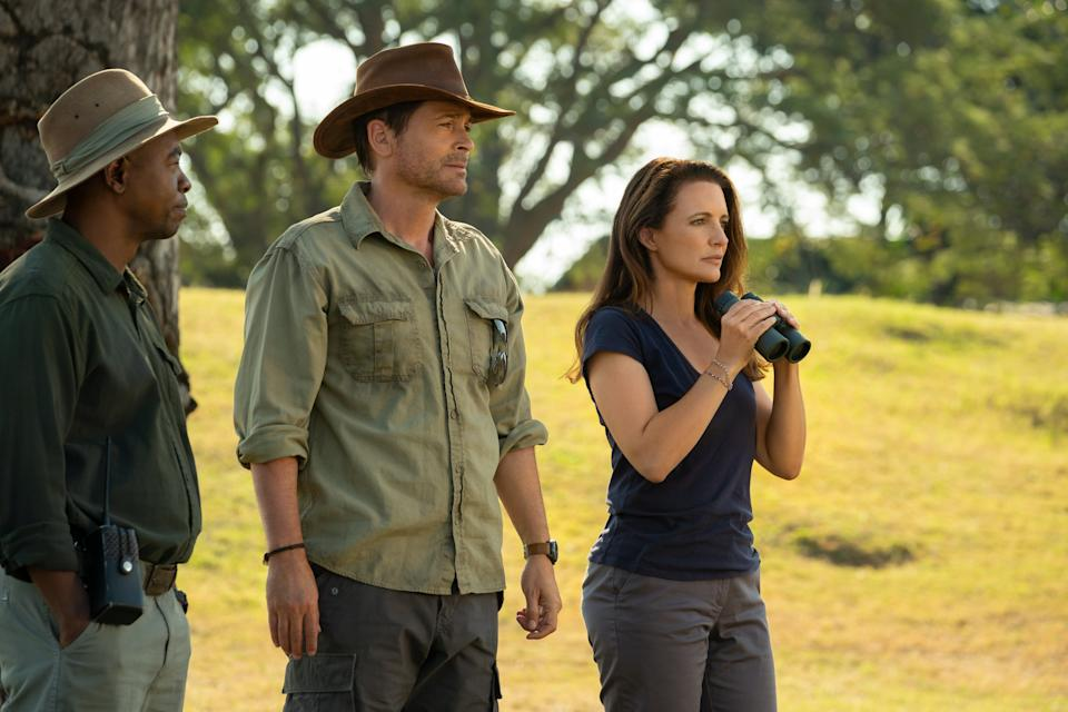 Rob Lowe and Kristin Davis get in touch with nature – and each other – in 'Holiday in the Wild'Ilze Kitshoff/Netflix