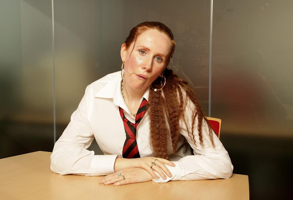 Catherine Tate appears as her comedy character 'Lauren' at a portrait shoot to promote her new television series on October 16, 2006 in London, England. (Photo by Dave Hogan/Getty Images)