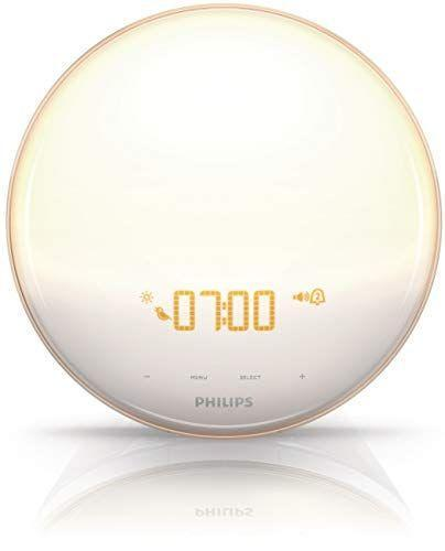 """<p><strong>Philips</strong></p><p>amazon.com</p><p><strong>$94.28</strong></p><p><a href=""""https://www.amazon.com/dp/B0093162RM?tag=syn-yahoo-20&ascsubtag=%5Bartid%7C10055.g.32980654%5Bsrc%7Cyahoo-us"""" rel=""""nofollow noopener"""" target=""""_blank"""" data-ylk=""""slk:Shop Now"""" class=""""link rapid-noclick-resp"""">Shop Now</a></p><p>This alarm clock uses both light and sound to get you out of bed naturally and is also loaded with a sunset simulation to help you wind your day down at bedtime. Rothman is <strong>impressed by its backup batter and how customizable it is — everything from brightness to the time display — as well as its one-tap snooze ability. </strong>Testers noted that the Philips SmartSleep helps establish a pleasant wake-up experience (a godsend on dark winter mornings!) and shared, on average, they felt more refreshed in their morning routines. Philips has <a href=""""https://www.amazon.com/Philips-Wake-Up-Simulation-HF3500-60/dp/B00F0W1RIW/?tag=syn-yahoo-20&ascsubtag=%5Bartid%7C10055.g.32980654%5Bsrc%7Cyahoo-us"""" rel=""""nofollow noopener"""" target=""""_blank"""" data-ylk=""""slk:another SmartSleep model at a lower price point"""" class=""""link rapid-noclick-resp"""">another SmartSleep model at a lower price point</a>, but Rothman notes that this model doesn't simulate sunset nor does it come loaded with many other features that makes this clock standout. </p>"""