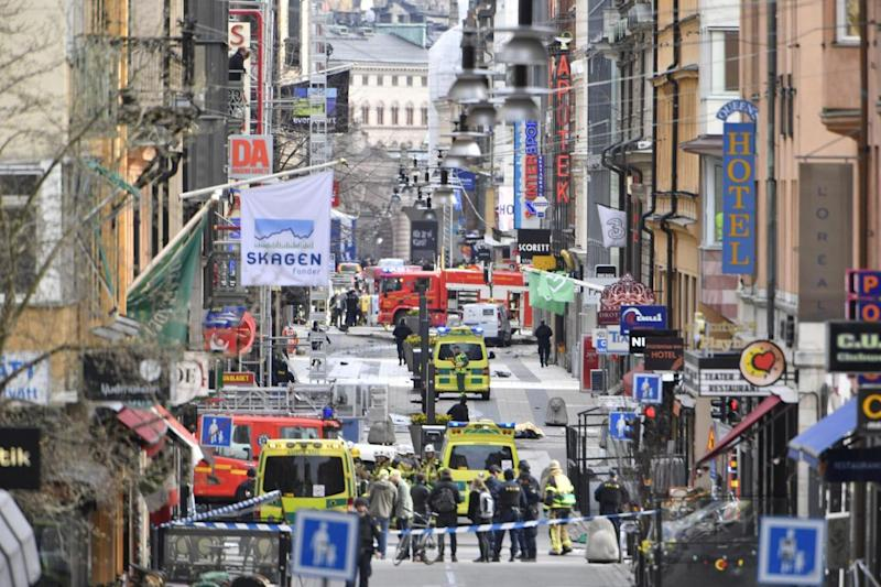 Deadly attack: A truck ploughed into crowds in Stockholm (Rex)