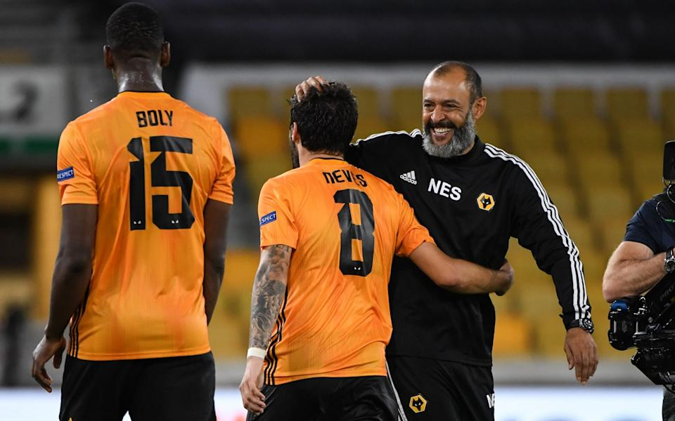 Nuno Espirito Santo the head coach / manager of Wolverhampton Wanderers and Ruben Neves - Getty Images