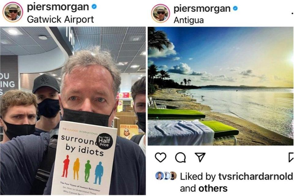 Piers Morgan jets off for family holiday in Antigua (Piers Morgan / Instagram)