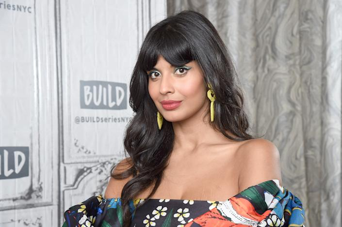 """NEW YORK, NEW YORK - SEPTEMBER 26: Actress and activist Jameela Jamil visits the Build series to discuss the NBC series """"The Good Place"""" and the """"I Weigh"""" movement at Build Studio on September 26, 2019 in New York City. (Photo by Gary Gershoff/Getty Images)"""