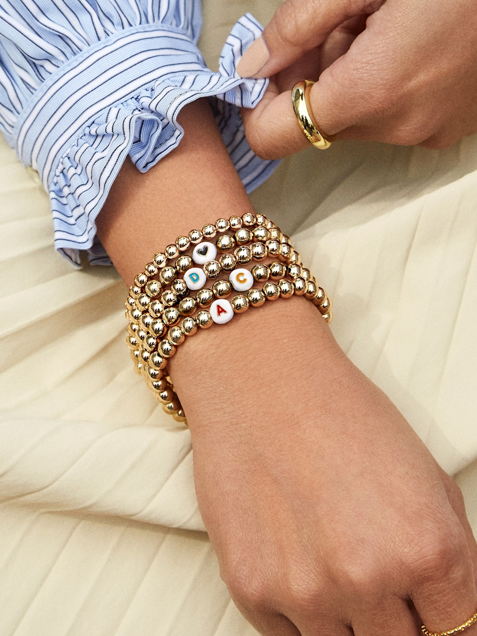 """<h3>Baublebar</h3><br><strong>Dates: </strong>Limited time<br><strong>Sale: </strong>15% off 2 or more Pisa Bracelets<br><strong>Promo Code:</strong> PISA15<br><br>It's time to take your wrist stack to the next level while saving 15% on BaubleBar's best-selling gold ball <a href=""""https://www.baublebar.com/category/whats-new/pisa-collection.html"""" rel=""""nofollow noopener"""" target=""""_blank"""" data-ylk=""""slk:Pisa Bracelets"""" class=""""link rapid-noclick-resp"""">Pisa Bracelets</a>. <br><br><strong>BaubleBar</strong> Initial Pisa Beaded Bracelet, $, available at <a href=""""https://go.skimresources.com/?id=30283X879131&url=https%3A%2F%2Fwww.baublebar.com%2Fproduct%2F52486-initial-pisa-beaded-bracelet"""" rel=""""nofollow noopener"""" target=""""_blank"""" data-ylk=""""slk:BaubleBar"""" class=""""link rapid-noclick-resp"""">BaubleBar</a>"""