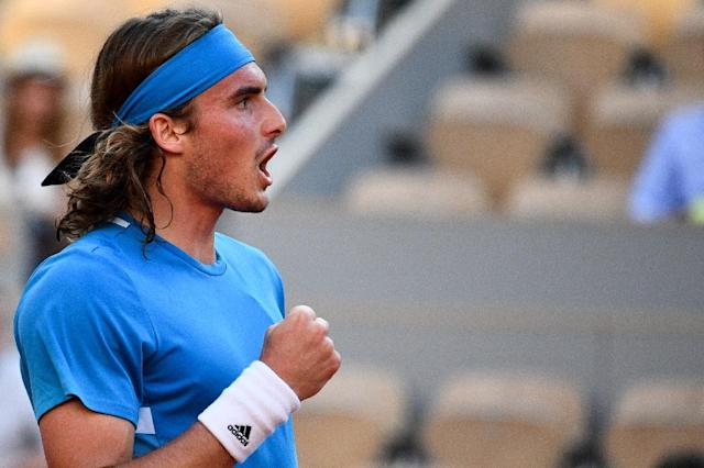 Tsitsipas reached the fourth round for the first time (AFP Photo/Martin BUREAU)