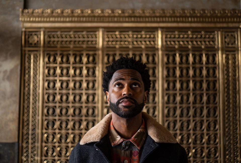 Big Sean poses for photos in the Fisher Building in Detroit on Wednesday, March 11, 2020.