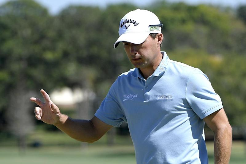 Kevin Kisner acknowledges the crowd after making a birdie putt on the seventh green during the third round of the Arnold Palmer Invitational golf tournament in Orlando, Fla., Saturday, March 18, 2017. (AP Photo/Phelan M. Ebenhack)