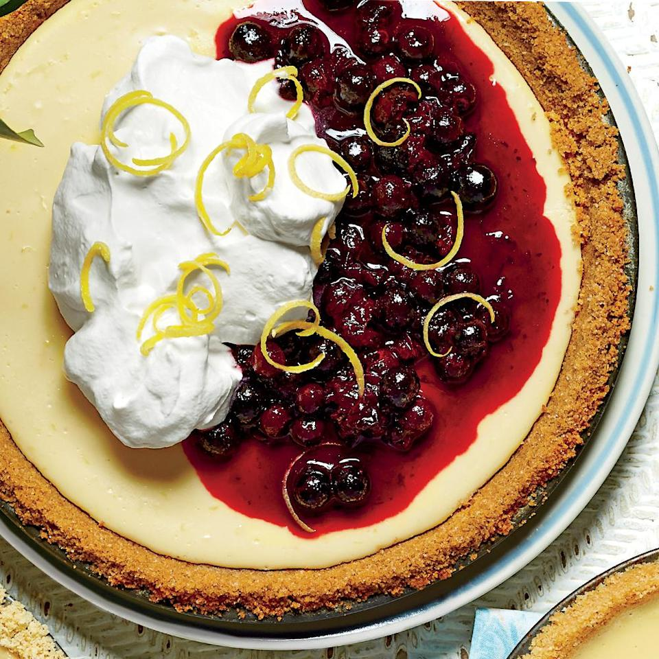"""<p>When life gives you lemons, use it to make this pie! The filling is pure heaven, not too sweet, and full of tartness from lemon juice and zest. If you like, you can speed things up with a premade graham cracker crust, but don't compromise when it comes to using <a href=""""https://www.myrecipes.com/t/fruit/citrus/lemons"""" rel=""""nofollow noopener"""" target=""""_blank"""" data-ylk=""""slk:fresh lemons"""" class=""""link rapid-noclick-resp"""">fresh lemons</a>. </p>"""