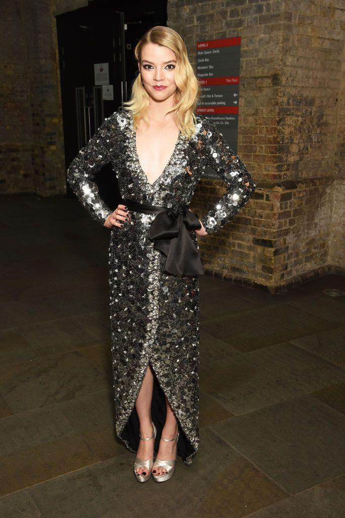 <p>The young star wore sequinned Miu Miu to pick up her 'Female Newcomer' award.</p>