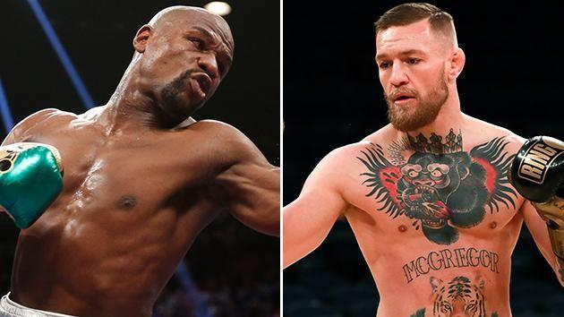 Mayweather and McGregor. Image: Getty