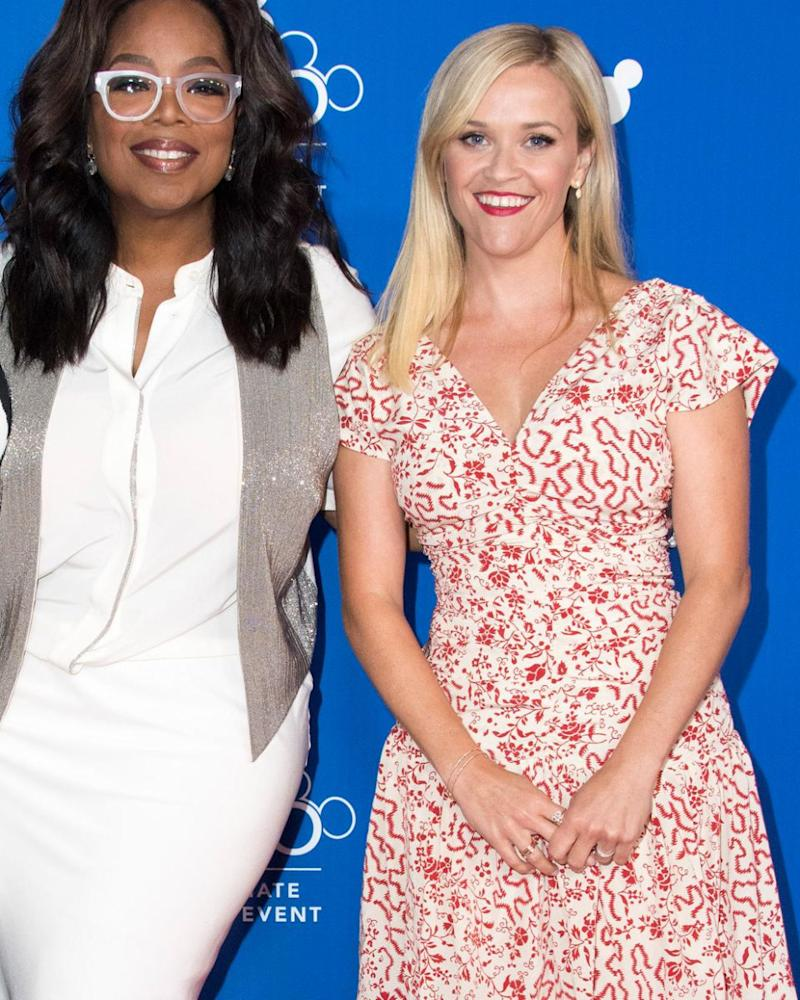 Oprah and Reese (here in 2017) star in new film A Wrinkle In Time together. Source: Getty