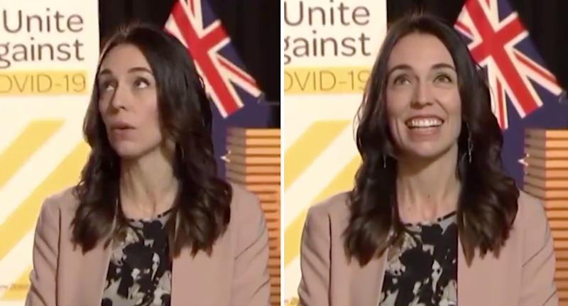 Jacinda Ardern wasn't particularly fazed by an earthquake Monday morning while on live television. Source: Newshub