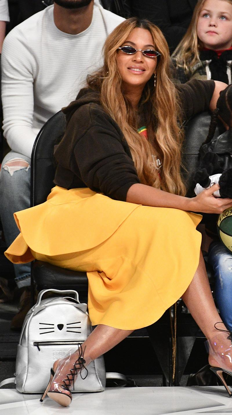 Beyonce attends The 67th NBA All-Star Game: Team LeBron Vs. Team Stephen at Staples Center on February 18, 2018 in Los Angeles, California. Photo courtesy of Getty Images.