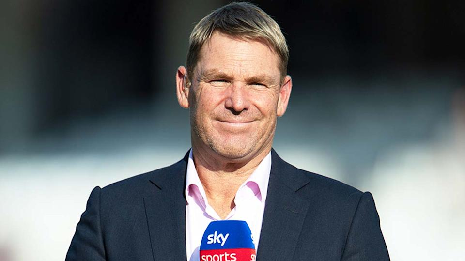 Shane Warne (pictured) during Sky Sports commentary.