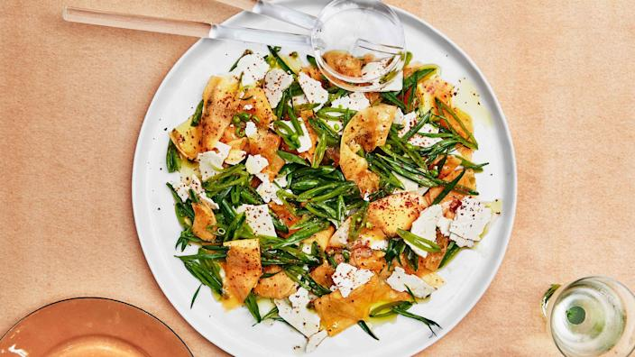 """<a href=""""https://www.bonappetit.com/recipe/cantaloupe-with-sugar-snap-peas-and-ricotta-salata?mbid=synd_yahoo_rss"""" rel=""""nofollow noopener"""" target=""""_blank"""" data-ylk=""""slk:See recipe."""" class=""""link rapid-noclick-resp"""">See recipe.</a>"""
