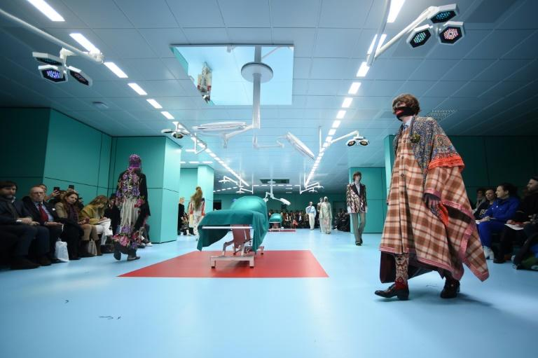 Operating tables were on the runway at Gucci's show as Milan Fashion Week kicked off