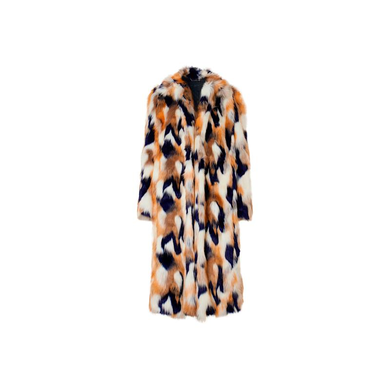 Givenchy was one of the major labels who have led the movement to swap real fur for faux. We love this oversized tri-color faux, it is one you'll wear for seasons to come. Buy now: Givenchy coat, $3,724, netaporter.com.
