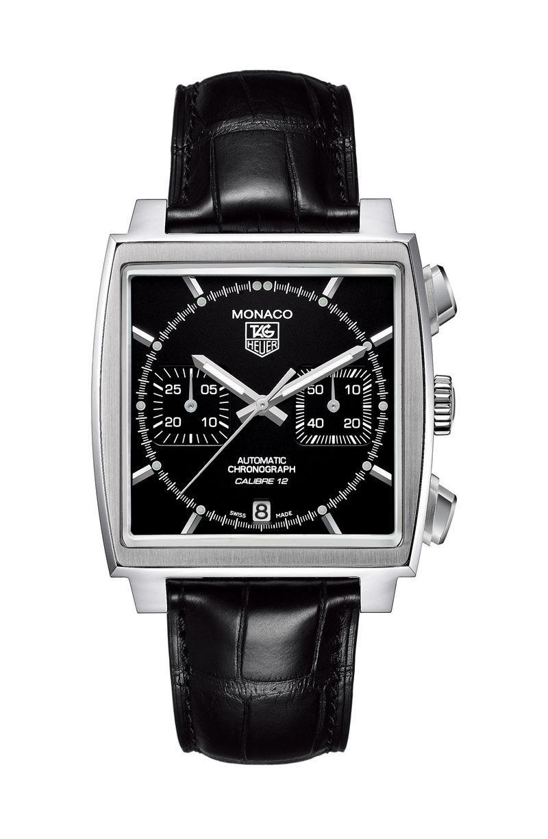"""<p>Limited Edition Calibre 12<br></p><p><a class=""""link rapid-noclick-resp"""" href=""""http://www.google.co.uk/shopping/product/10650645923347083337?lsf=seller%3A113380464%2Cstore%3A13255154669653799561%2Clsfqd%3A0&prds=oid%3A3170335870816091328&q=watch&hl=en&ei=i6MhX5TZJvad1fAPzJqT6A4&lsft=utm_content%3Ashopping___adty__pla___prch__local___stco__460___prid__17381330%2Cutm_medium%3Acpc&lsft=gclid%3ACj0KCQjwvIT5BRCqARIsAAwwD-RabfupkYgkpPPqoZZ-0CQ38QnwvhA3XLu8dGALiVJwkHXrDWw2REwaAtFCEALw_wcB"""" rel=""""nofollow noopener"""" target=""""_blank"""" data-ylk=""""slk:SHOP"""">SHOP</a></p><p>This contemporary take on the classic Monaco has character to spare, with its stealthy black-on-black stylings. The PDV-coated steel case is set off by the reverse of the leather strap – a punchy orange. A limited edition that also comes in smaller case (39mm x 39mm).</p><p>£1,795; <a href=""""http://www.google.co.uk/shopping/product/10650645923347083337?lsf=seller:113380464,store:13255154669653799561,lsfqd:0&prds=oid:3170335870816091328&q=watch&hl=en&ei=i6MhX5TZJvad1fAPzJqT6A4&lsft=utm_content:shopping___adty__pla___prch__local___stco__460___prid__17381330,utm_medium:cpc&lsft=gclid:Cj0KCQjwvIT5BRCqARIsAAwwD-RabfupkYgkpPPqoZZ-0CQ38QnwvhA3XLu8dGALiVJwkHXrDWw2REwaAtFCEALw_wcB"""" rel=""""nofollow noopener"""" target=""""_blank"""" data-ylk=""""slk:watches-of-switzerland.com"""" class=""""link rapid-noclick-resp"""">watches-of-switzerland.com</a></p>"""