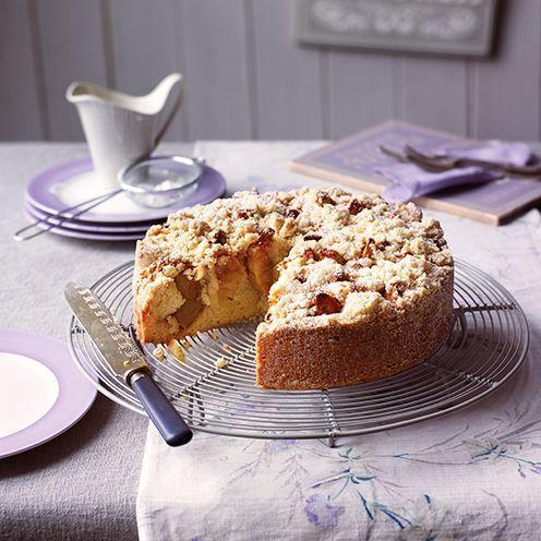 """<p>Densely fruity with an irresistible crumb, this is wonderful Apple crumb cake recipe is great served with ice cream.</p><p><strong>Recipe: <a href=""""https://www.goodhousekeeping.com/uk/food/recipes/a537918/apple-crumb-cake/"""" rel=""""nofollow noopener"""" target=""""_blank"""" data-ylk=""""slk:Apple crumb cake"""" class=""""link rapid-noclick-resp"""">Apple crumb cake</a></strong></p>"""