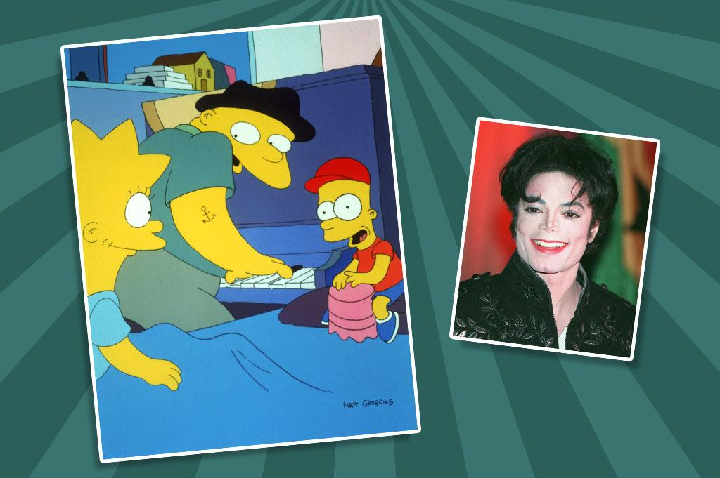 """Probably the most legendary guest voice in """"Simpsons"""" history, Michael Jackson appeared in the 1991 episode """"Stark Raving Dad"""" as large white (well, yellow, actually) mental patient Leon Kompowsky, who thinks he's Michael Jackson. Stifled by contractual restraints, the show couldn't credit Jackson by name (he's billed as John Jay Smith), and the pop star could only voice his character's spoken lines, not the song """"Lisa, It's Your Birthday,"""" which Kompowsky sings in the episode."""
