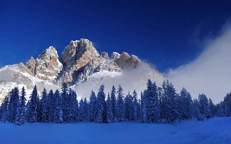 The ancient mountain town of Cortina d'Ampezzo is one of Italy's most chic resorts - STEFANO ZARDINI