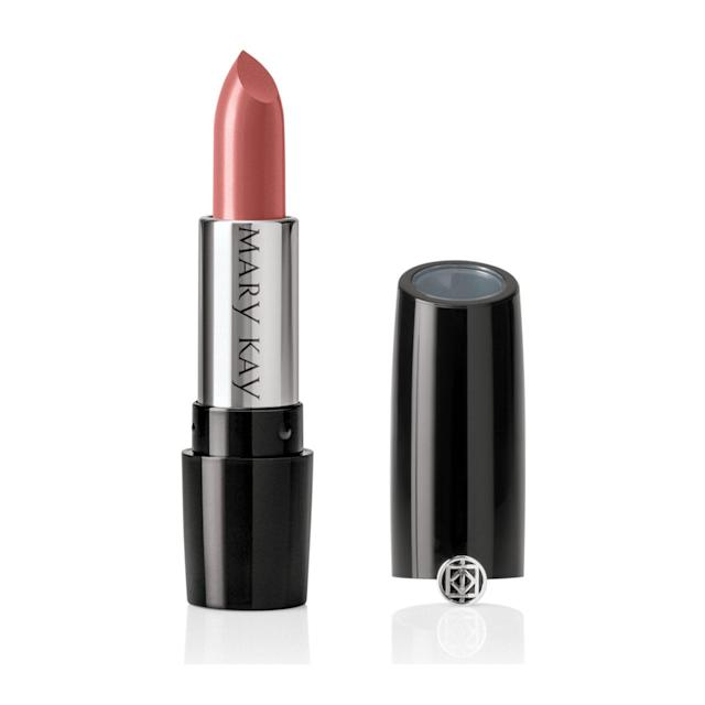 """<p><strong>BUY IT:</strong> $18; <a href=""""https://www.marykay.com/en-us/products/makeup/lips/lipstick/mary-kay-gel-semishine-lipstick-rosewood-301086"""" rel=""""nofollow noopener"""" target=""""_blank"""" data-ylk=""""slk:marykay.com"""" class=""""link rapid-noclick-resp"""">marykay.com</a></p> <p>Just a hint of shine—not too much—that's what you'll get with this imperfection-blurring formula. Oh, and that rosy nude color? It's perfection.</p>"""