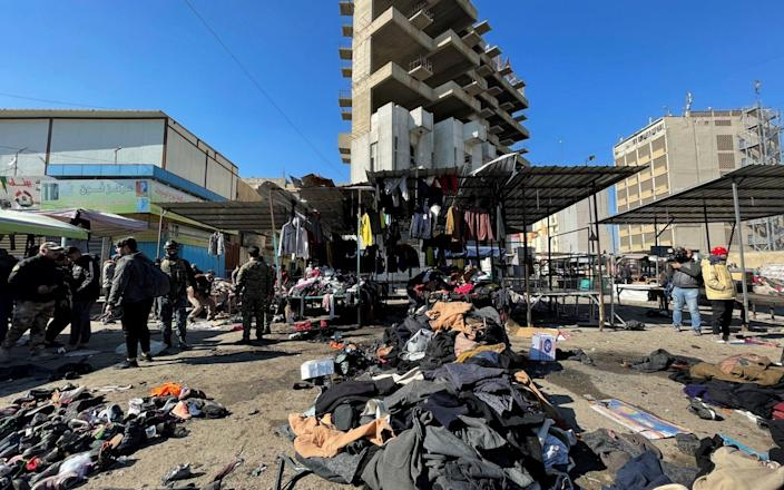 A view of he aftermath of the bombing - Thaier al-Sudani/Reuters