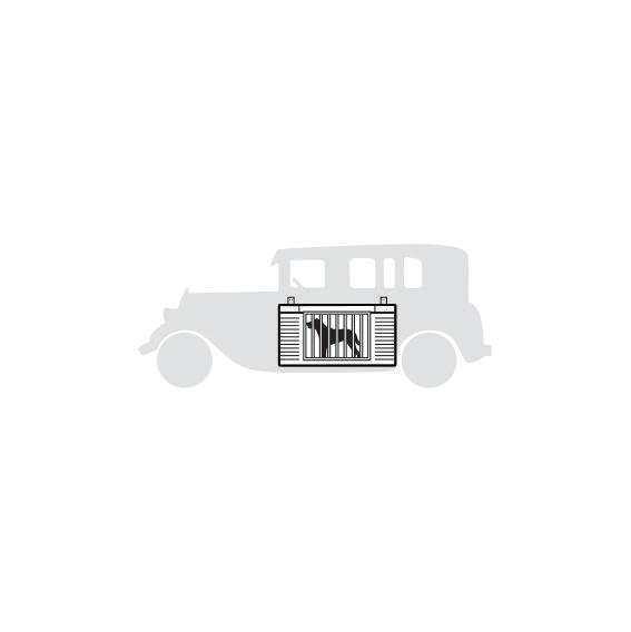 """<p>Tired of hounds tearing up your Model T? The Bird Dog's Palace was a steel crate that clamped onto the running board of an early Ford and came in two sizes. A 1927 advertisement declares it """"suitable for large pointers or setters as well as other breeds.""""</p>"""