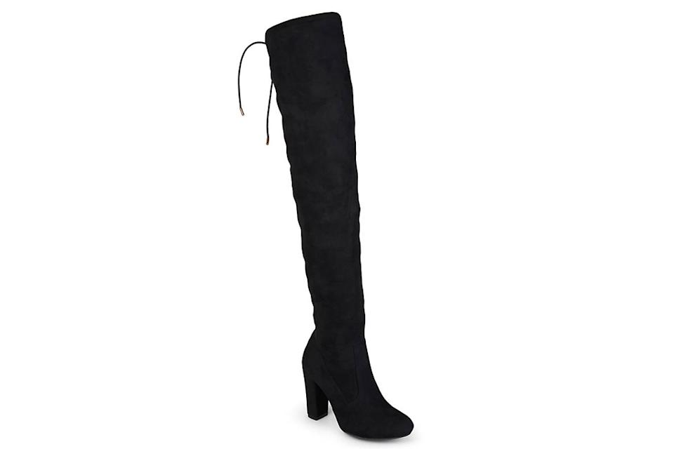 black, thigh-high boots, over the knee boots