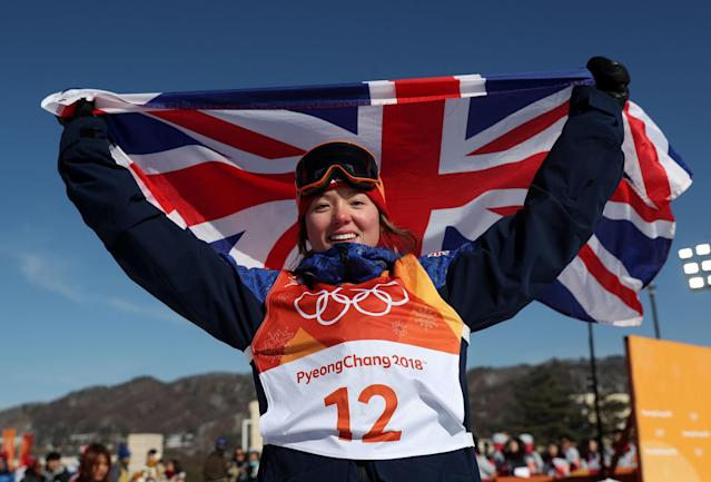 Izzy Atkin is competing in her first Winter Olympic Games - PA