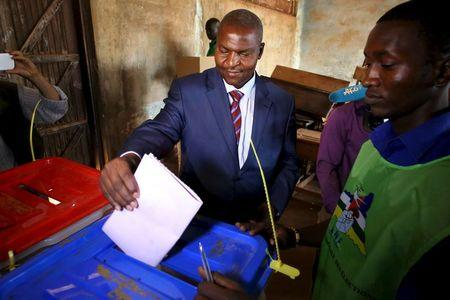 Presidential candidate Faustin-Archange Touadera votes during the second round presidential and legislative elections in Bangui, Central African Republic