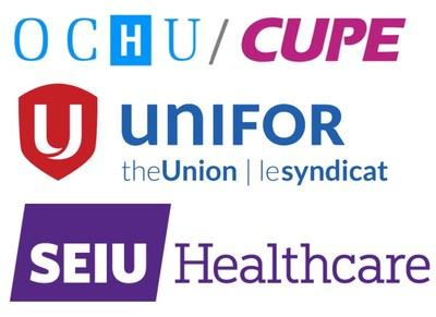 Unifor, SEIU Healthcare, CUPE Ontario (CNW Group/Unifor)