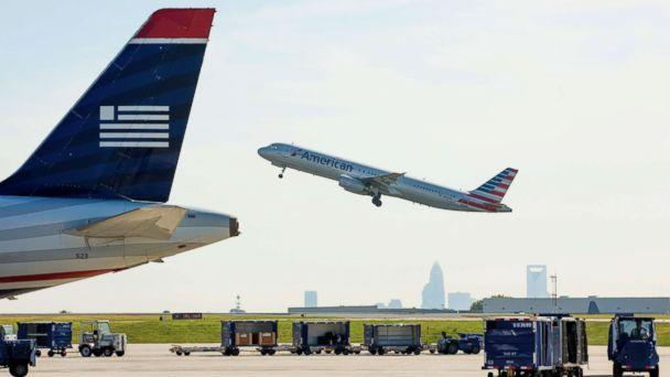 PHOTO: An American Airlines planes takes off as staff and employees at Charlotte Douglas International Airport in Charlotte, N.C. on Sept. 17, 2015. (Jason E. Miczek/Getty Images FILE)