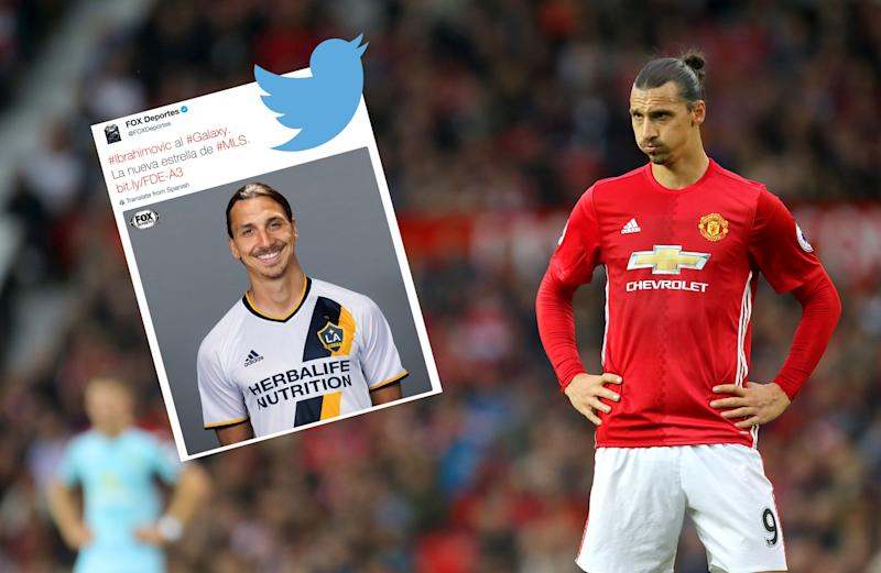 detailed look a761a 24986 Manchester United striker Zlatan Ibrahimovic pictured in LA ...