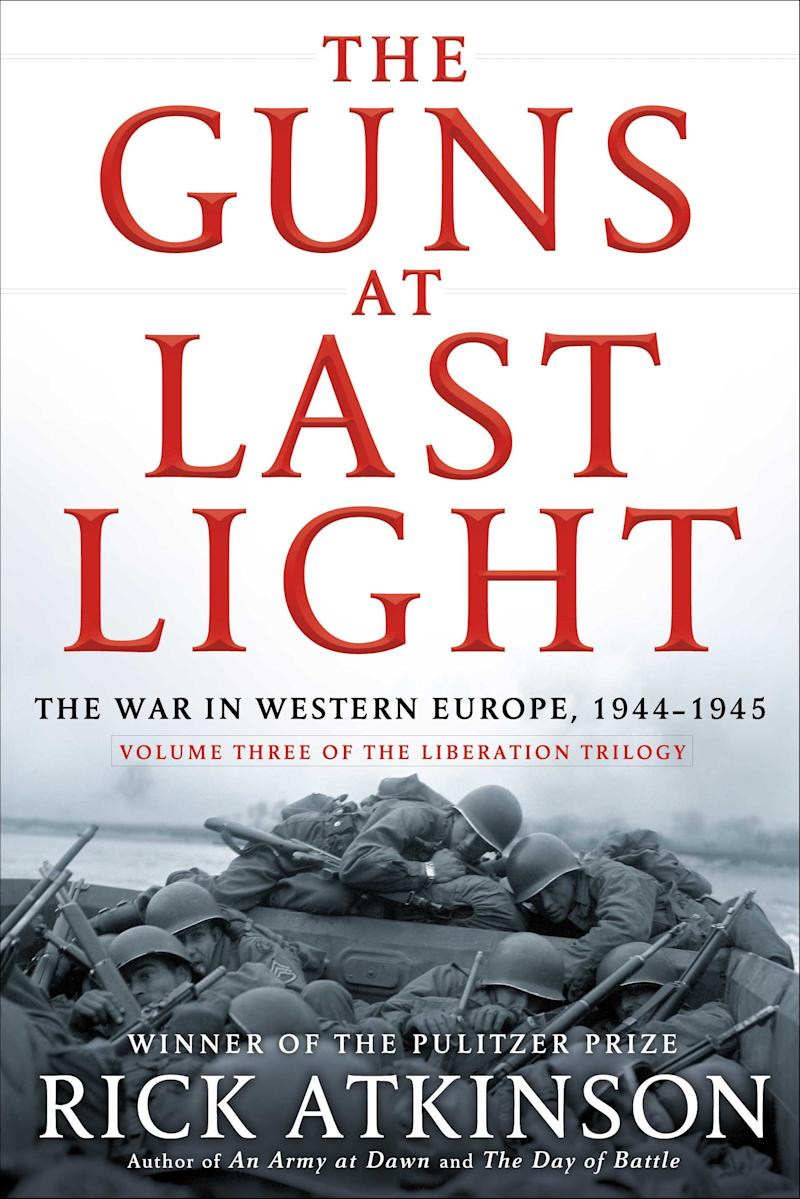 """This book cover image released by Henry Holt shows """"The Guns at Last Light,"""" by Rick Atkinson. (AP Photo/Henry Holt)"""