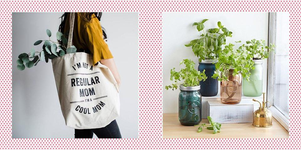 """<p>Coming up with the perfect Mother's Day gift idea can be tricky, especially if you're on a budget. How can you tell your mom or maternal figure in your life how much she means to you without breaking the bank? If you're a crafty type, then you can always make a <a href=""""https://www.womansday.com/life/g2311/diy-mothers-day-gifts/"""" rel=""""nofollow noopener"""" target=""""_blank"""" data-ylk=""""slk:DIY Mother's Day gift"""" class=""""link rapid-noclick-resp"""">DIY Mother's Day gift</a> that she's sure to love. There are also plenty of <a href=""""https://www.womansday.com/life/g32210067/free-mothers-day-gifts/"""" rel=""""nofollow noopener"""" target=""""_blank"""" data-ylk=""""slk:free Mother's Day gifts"""" class=""""link rapid-noclick-resp"""">free Mother's Day gifts</a> that are guaranteed to put a smile on her face. But if you're looking to purchase a present, then there are plenty of cheap Mother's Day gifts out there that look <em>anything</em> but cheap. Whatever your budget, you have options that your favorite lady will definitely appreciate (and, better yet, that she'll actually use). </p><p>From <a href=""""https://www.womansday.com/style/fashion/g2304/mothers-day-jewelry/"""" rel=""""nofollow noopener"""" target=""""_blank"""" data-ylk=""""slk:personalized Mother's Day jewelry"""" class=""""link rapid-noclick-resp"""">personalized Mother's Day jewelry</a> to <a href=""""https://www.womansday.com/relationships/family-friends/g31215748/funny-mothers-day-gifts/"""" rel=""""nofollow noopener"""" target=""""_blank"""" data-ylk=""""slk:funny Mother's Day presents"""" class=""""link rapid-noclick-resp"""">funny Mother's Day presents</a>, there is something amazing (and under budget) for your mom out there. Whether she's into exercising, crafting, plant growing, reading, cooking, or wine-sipping, you can find something that will make the mamas in your life feel extra-special after a very difficult year.</p><p>These budget-friendly gifts for moms are all $25 or less, and they definitely don't look it. Here's the best part: most of items can be shipped fast for those in ne"""