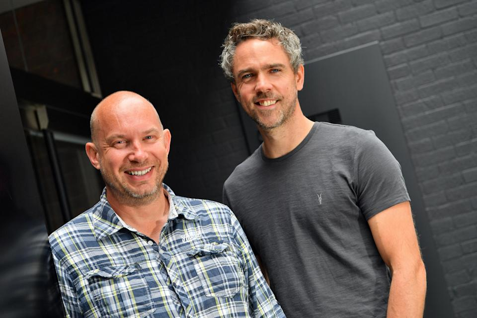 Crowded: Darren Westlake, co-founder and chief executive officer with Luke Lang, co-founder and chief marketing officer, Crowdcube. Photo: Professional Images/@ProfImages/Crowdcube