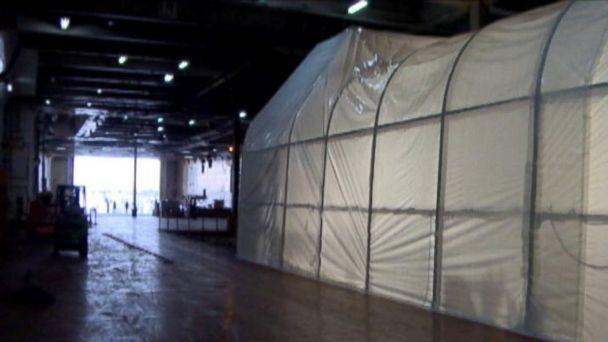 ABC tent on deck 2 sr 140103 16x9 608 A Look at the Massive Ship Will Destroy Syrias Chemical Weapons