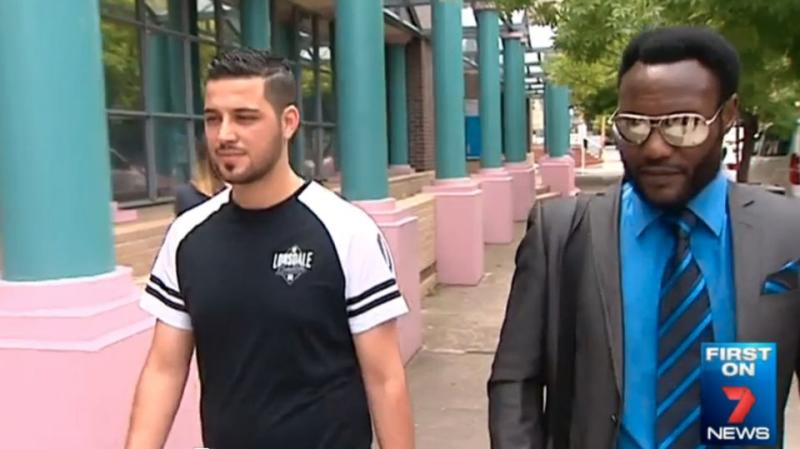 Abdel Razzak shows up to court with his lawyer Lovemore Ndou. Photo: 7News