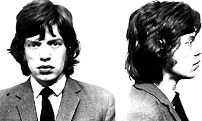 Police mugshots of Mick Jagger in 1967