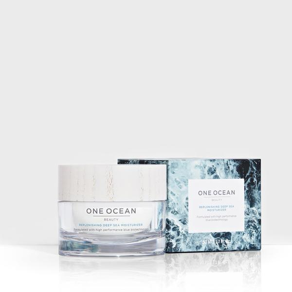 <p>Ocean preservation is at the heart of One Ocean Beauty. The brand is a partner of Oceana and every product purchased, such as the <span>Replenishing Deep Sea Moisturizer</span> ($82), helps support the organization.</p>