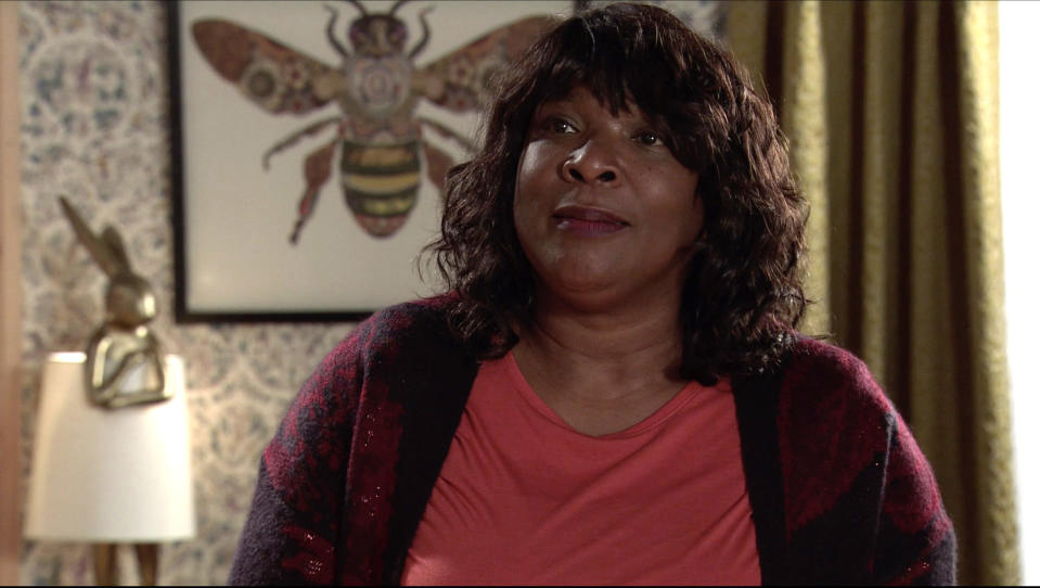 FROM ITV  STRICT EMBARGO- No Use Before  Tuesday 19th January 2021  Coronation Street - Ep 10231  Monday 25th January 2021 - 1st Ep  Aggie Bailey [LORNA LAIDLAW] seizes the opportunity and gives Grace [KATE SPENCER] both barrels, telling her MichaelÕs better off without her.   Picture contact David.crook@itv.com   This photograph is (C) ITV Plc and can only be reproduced for editorial purposes directly in connection with the programme or event mentioned above, or ITV plc. Once made available by ITV plc Picture Desk, this photograph can be reproduced once only up until the transmission [TX] date and no reproduction fee will be charged. Any subsequent usage may incur a fee. This photograph must not be manipulated [excluding basic cropping] in a manner which alters the visual appearance of the person photographed deemed detrimental or inappropriate by ITV plc Picture Desk. This photograph must not be syndicated to any other company, publication or website, or permanently archived, without the express written permission of ITV Picture Desk. Full Terms and conditions are available on  www.itv.com/presscentre/itvpictures/terms
