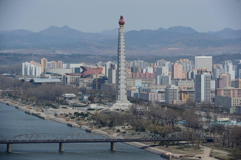 A general view of Pyongyang on April 11, 2012
