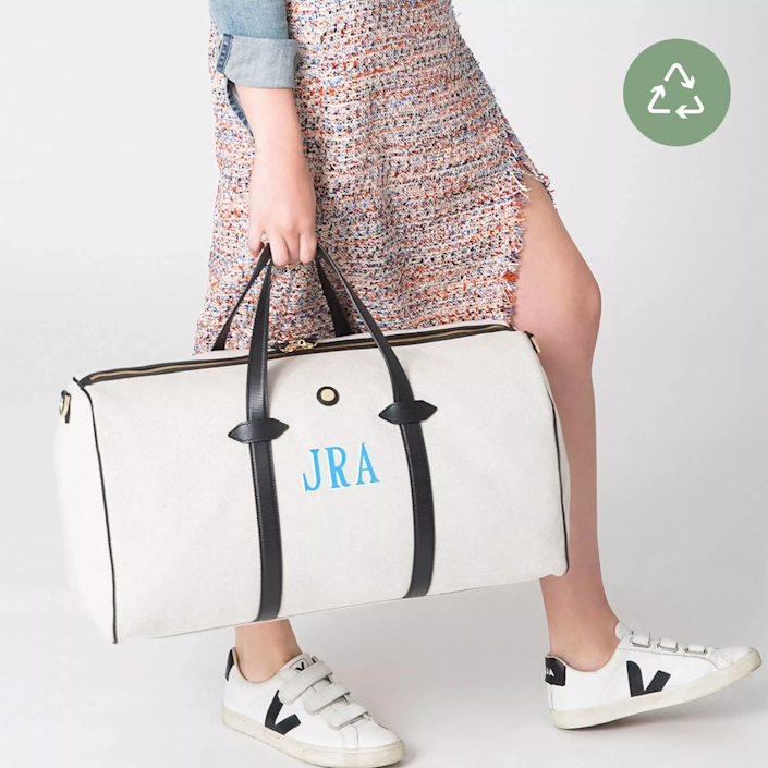 """<h2>Paravel Main Line Duffle </h2><br>This classic carryall is constructed from Paravel's signature Ecocraft canvas which is made from upcycled water bottles. The duffle also features leather trim and handles and two interior zip pockets. <br><br><em>Shop <strong><a href=""""https://tourparavel.com"""" rel=""""nofollow noopener"""" target=""""_blank"""" data-ylk=""""slk:Paravel"""" class=""""link rapid-noclick-resp"""">Paravel</a></strong></em><br><br><strong>Paravel</strong> Main Line Duffle, $, available at <a href=""""https://go.skimresources.com/?id=30283X879131&url=https%3A%2F%2Ftourparavel.com%2Fproducts%2Fmain-line-duffel"""" rel=""""nofollow noopener"""" target=""""_blank"""" data-ylk=""""slk:Paravel"""" class=""""link rapid-noclick-resp"""">Paravel</a>"""