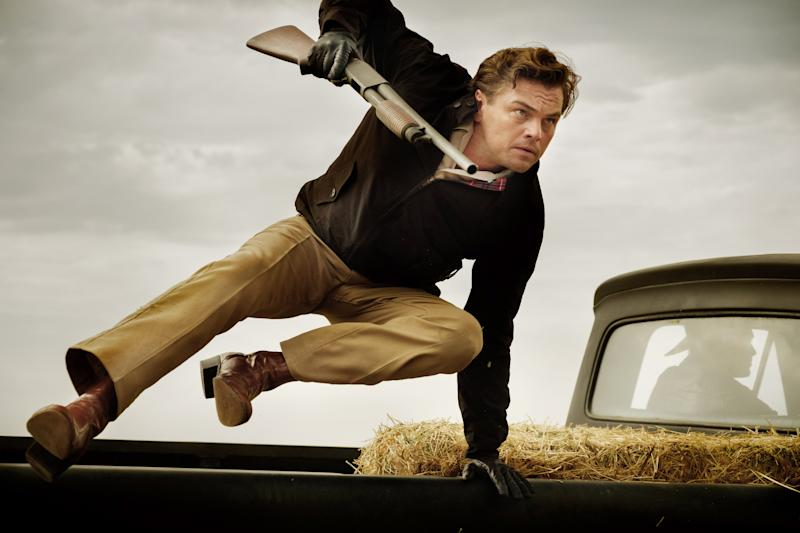 DiCaprio leaps into action as Rick Dalton (Photo: Andrew Cooper / © Columbia Pictures / courtesy Everett Collection)