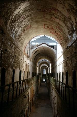 One of the two story cell blocks in Eastern State Penitentiary