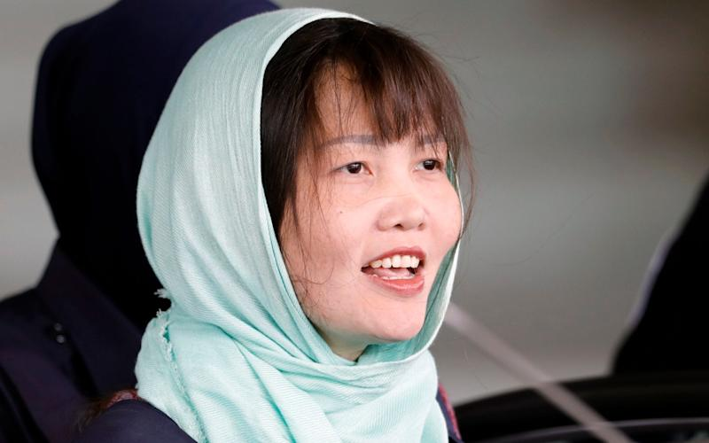 Doan Thi Huong said she was happy about her imminent release from a Malaysian jail - AP